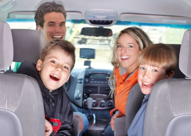 Family in the Car