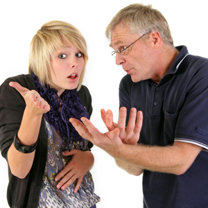 Teens fighting with their parents for explanation